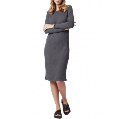 David Lawrence Womens Bettina Ls Knit Dress LIGHT GREY on clearance CXWQZLO - 95% Cotton 5% Cashmere. Cold gentle hand wash.