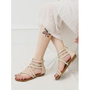 Womens Apricot Strappy Flat Sandals sale next #32740937286